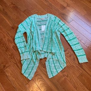 NWT Skies Are Blue Striped Open Front Cardigan